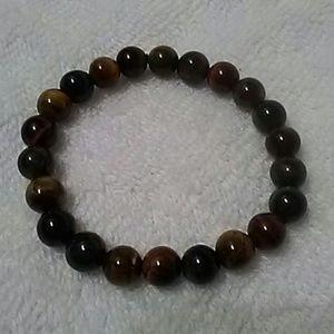 Natural 3 color tiger eye stone bracelet